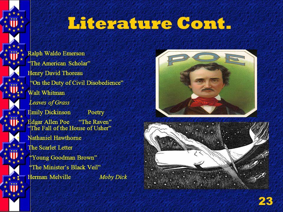 23 Literature Cont.