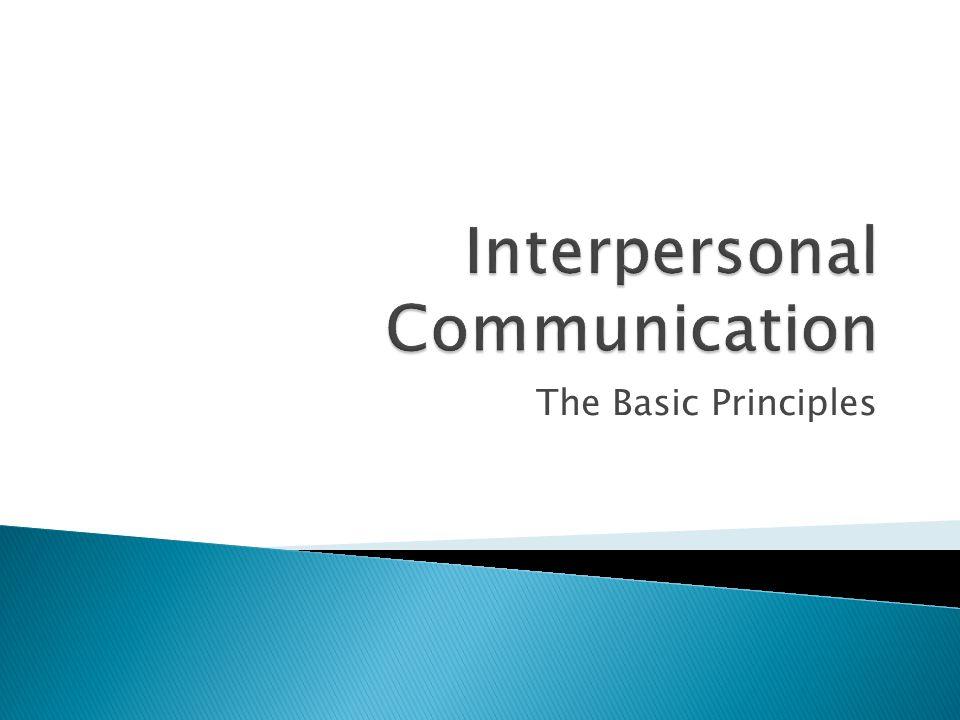 The Basic Principles