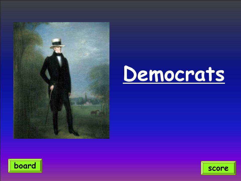 Democrats score board