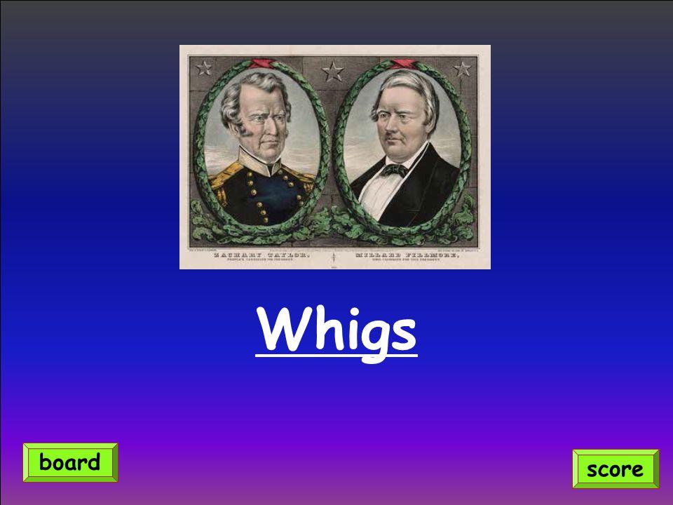 Whigs score board
