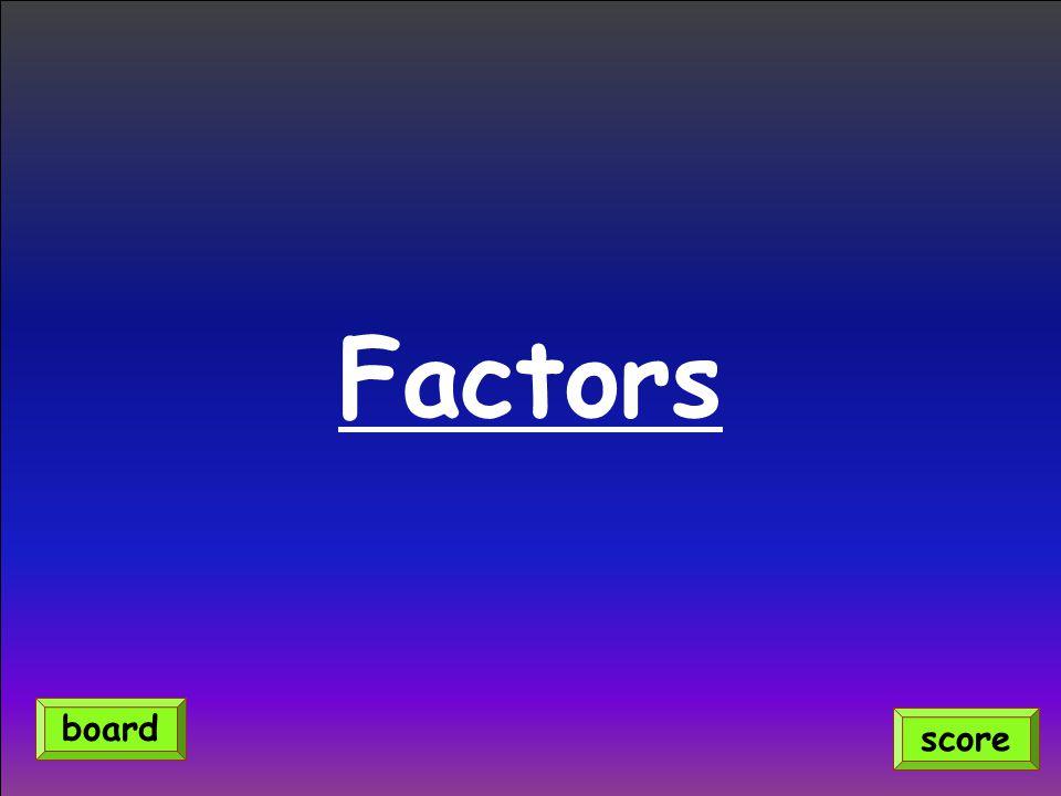 Factors score board