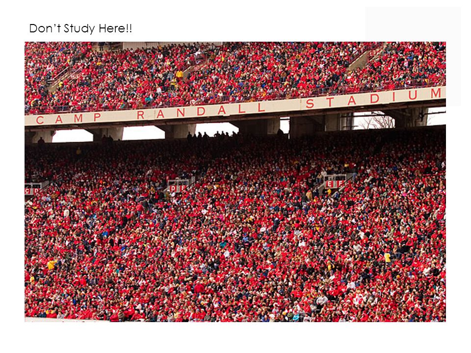 Don't Study Here!!