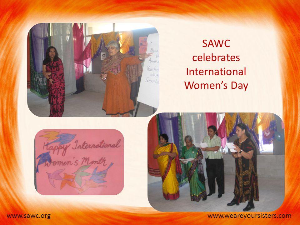 www.weareyoursisters.comwww.sawc.org SAWC celebrates International Women's Day