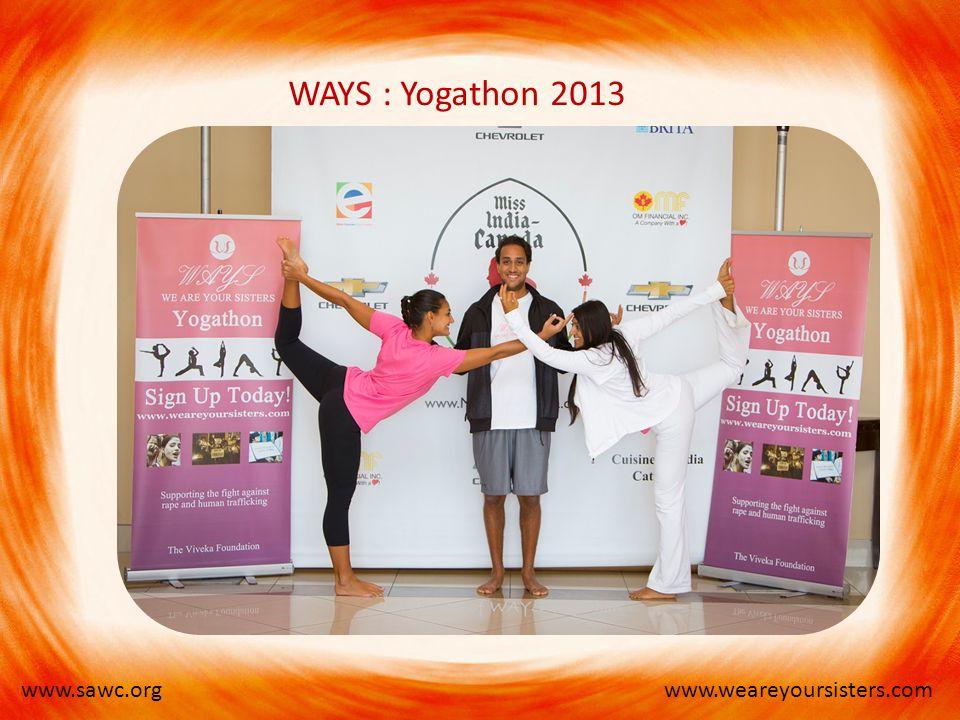 www.weareyoursisters.comwww.sawc.org WAYS : Yogathon 2013