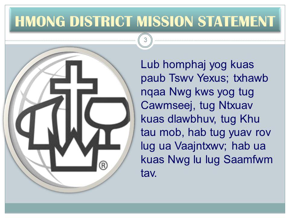 Cov Thawj Tsaavxwm Ntawm HKM Kx. Timothy T. Vang, D Min. 1991-96 & 2003-2005 14
