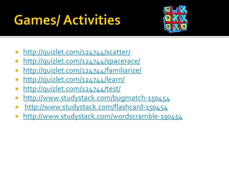  http://quizlet.com/124744/scatter/ http://quizlet.com/124744/scatter/  http://quizlet.com/124744/spacerace/ http://quizlet.com/124744/spacerace/  http://quizlet.com/124744/familiarize/ http://quizlet.com/124744/familiarize/  http://quizlet.com/124744/learn/ http://quizlet.com/124744/learn/  http://quizlet.com/124744/test/ http://quizlet.com/124744/test/  http://www.studystack.com/bugmatch-150454 http://www.studystack.com/bugmatch-150454  http://www.studystack.com/flashcard-150454http://www.studystack.com/flashcard-150454  http://www.studystack.com/wordscramble-150454 http://www.studystack.com/wordscramble-150454