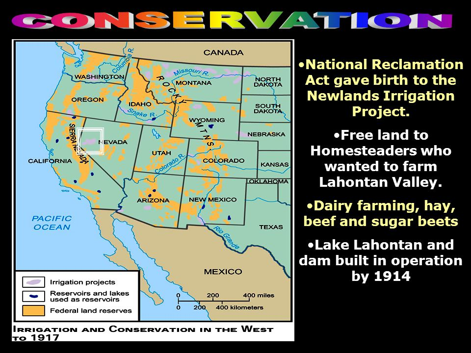 National Reclamation Act gave birth to the Newlands Irrigation Project. Free land to Homesteaders who wanted to farm Lahontan Valley. Dairy farming, h