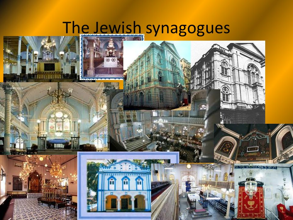The Jewish synagogues