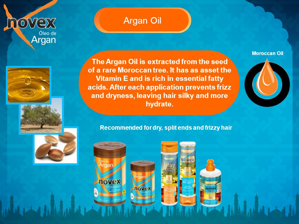 Argan Oil The Argan Oil is extracted from the seed of a rare Moroccan tree.