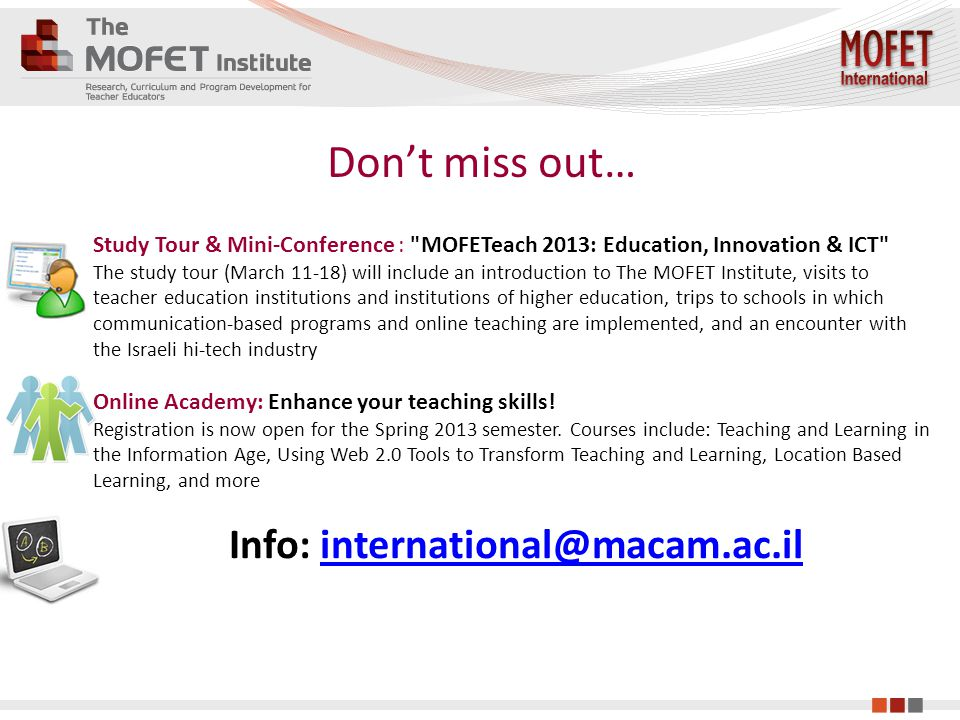 Don't miss out… Study Tour & Mini-Conference :