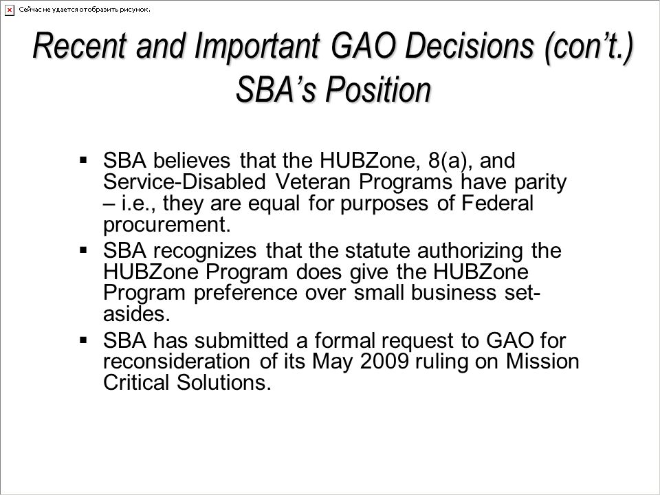 Recent and Important GAO Decisions  International Program Group, Inc.