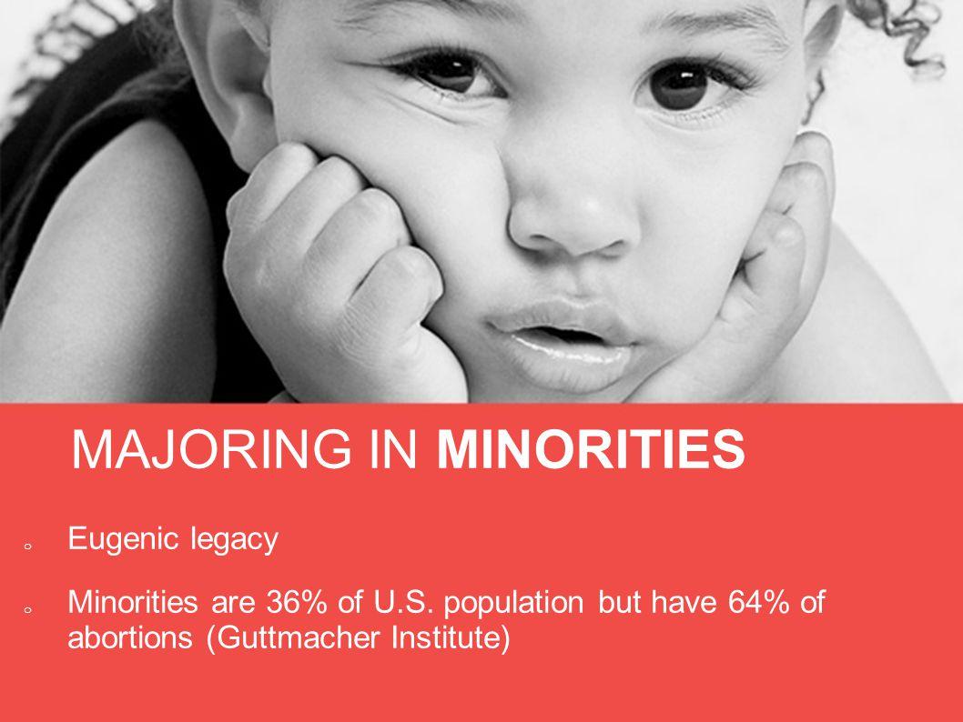 MAJORING IN MINORITIES o Eugenic legacy o Minorities are 36% of U.S.