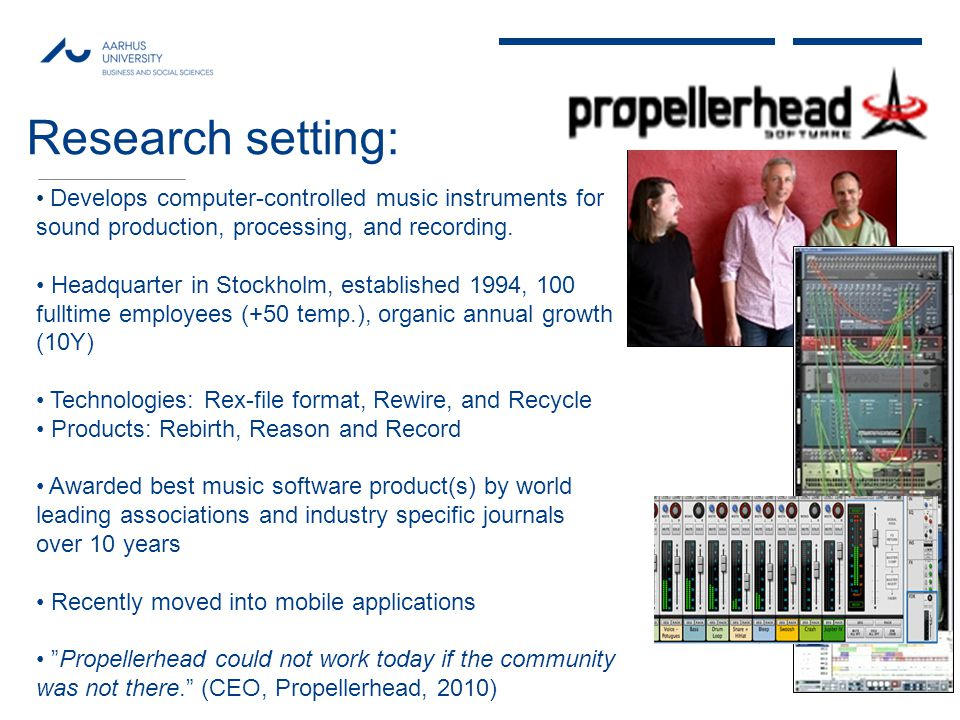 MAY 2013 Develops computer-controlled music instruments for sound production, processing, and recording.