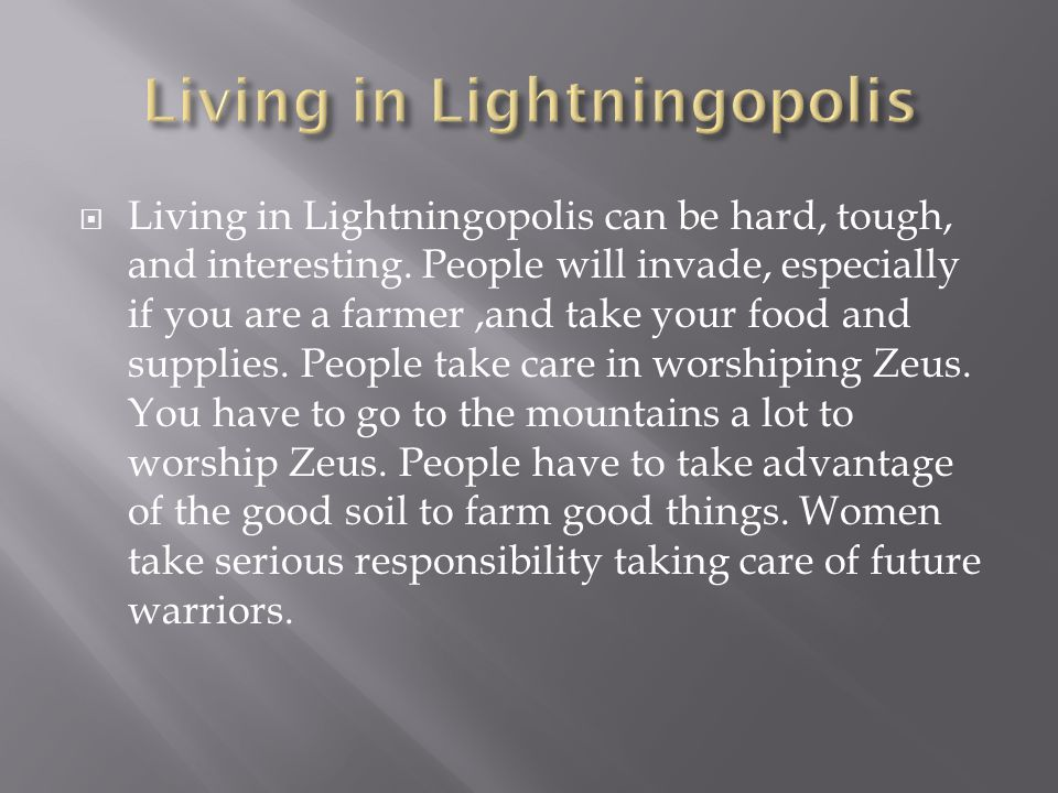  Living in Lightningopolis can be hard, tough, and interesting.
