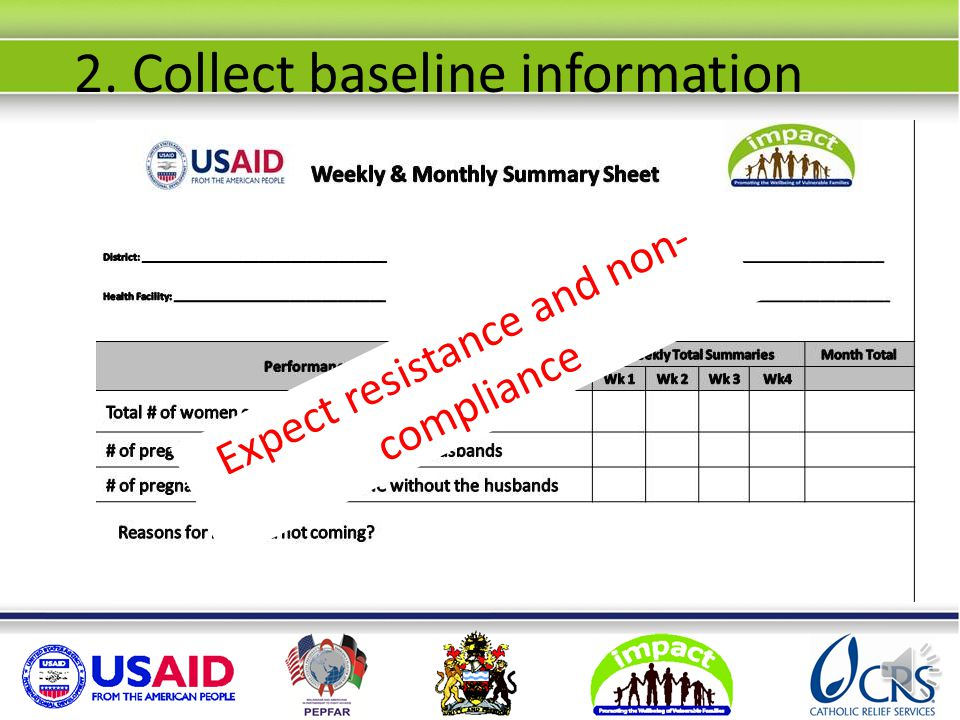 2. Collect baseline information