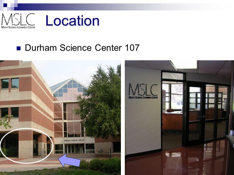 Location Durham Science Center 107