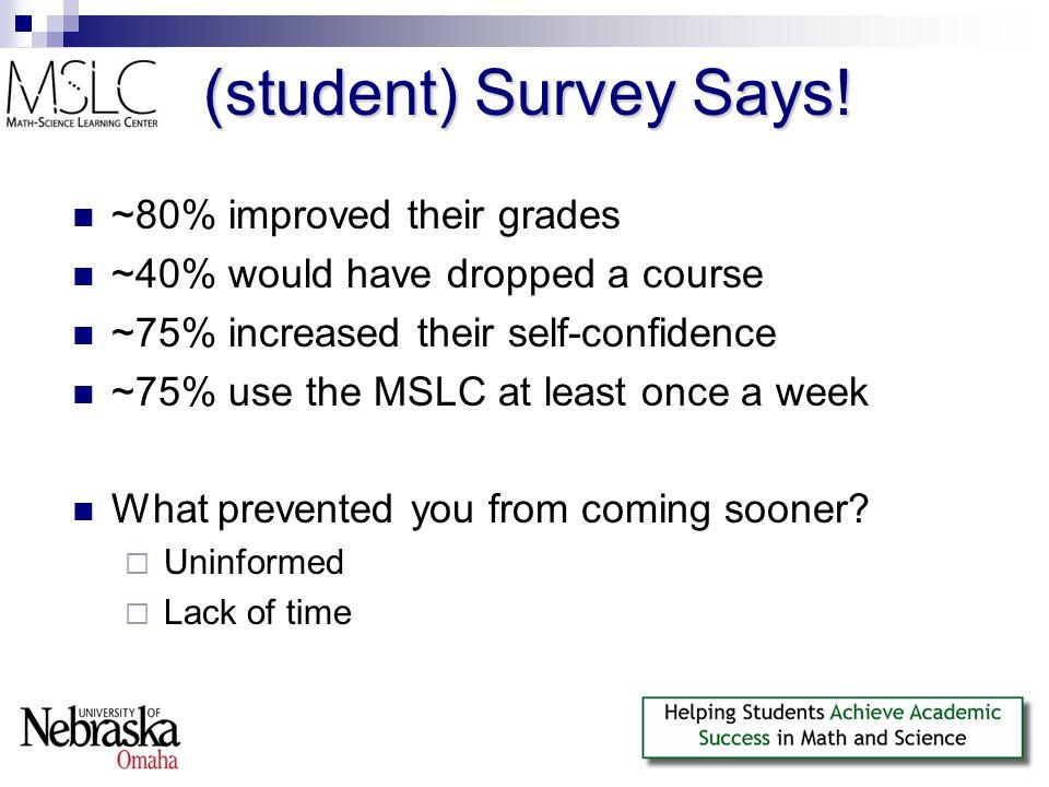 (student) Survey Says.