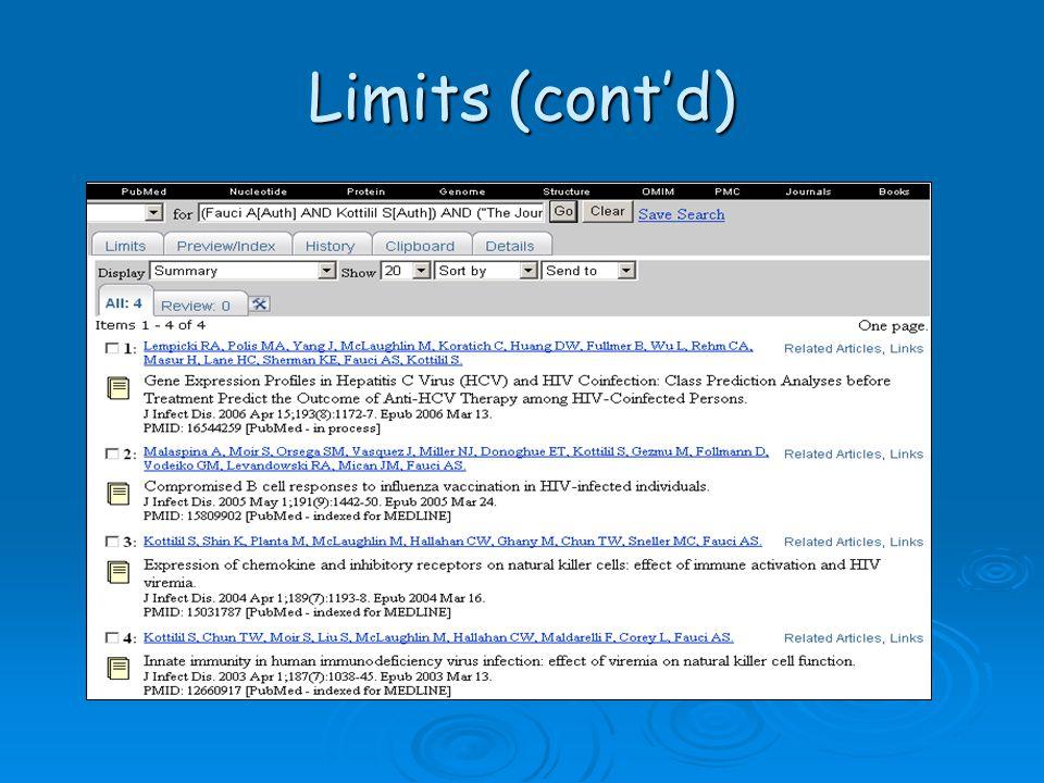 Limits (cont'd)