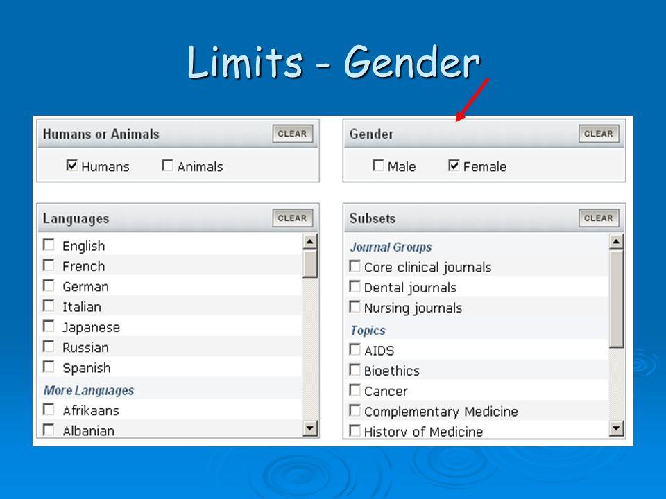 Limits - Gender