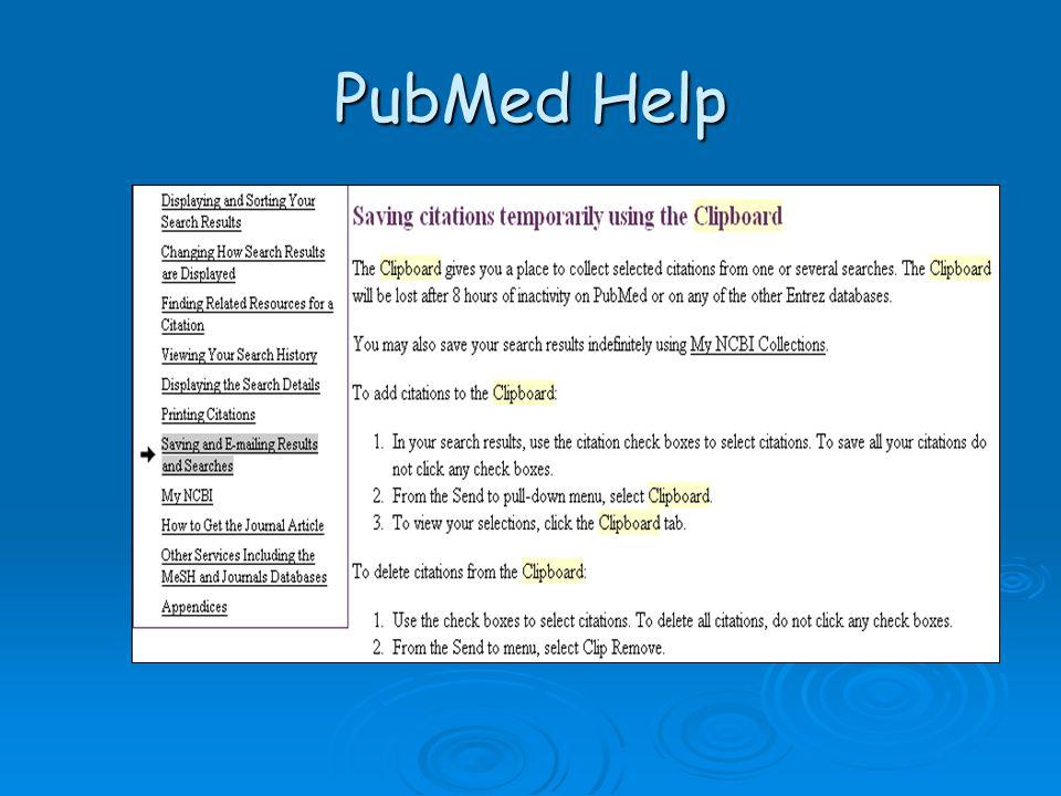 PubMed Help