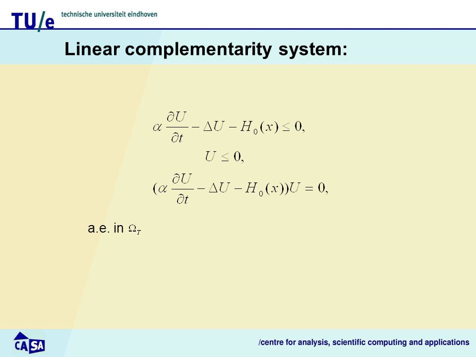Linear complementarity system: a.e. in
