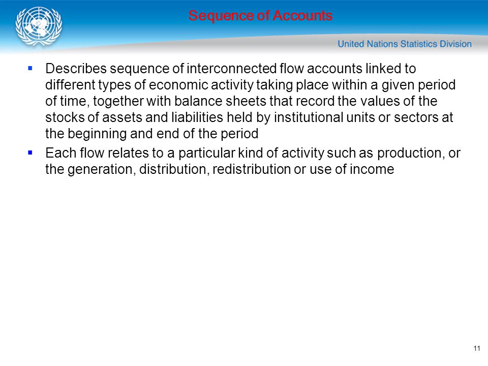 12  Current accounts  Accumulation accounts  Balance sheets Sequence of Accounts