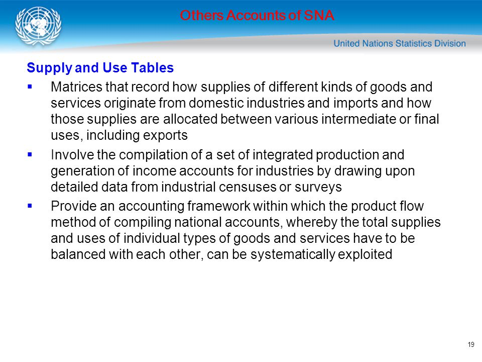 20 Others Accounts of SNA Supply and Use Tables