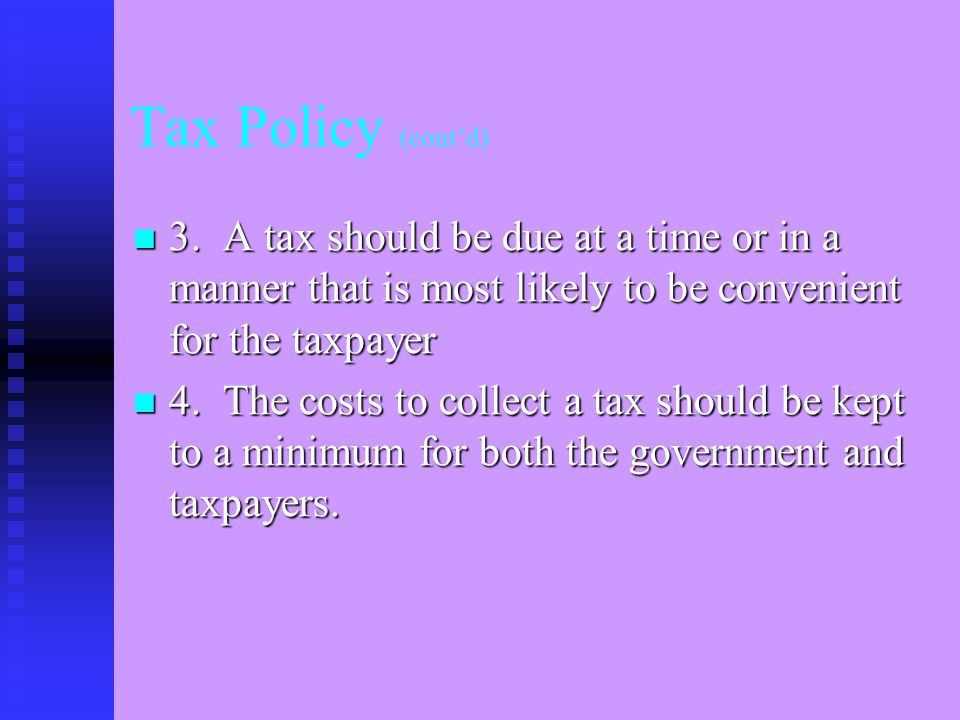 PRINCIPLES OF GOOD TAX POLICY Annette Nellen, San Jose State University Presented to Tax Section of AICPA at Section meeting in Van Couver, B.C., June