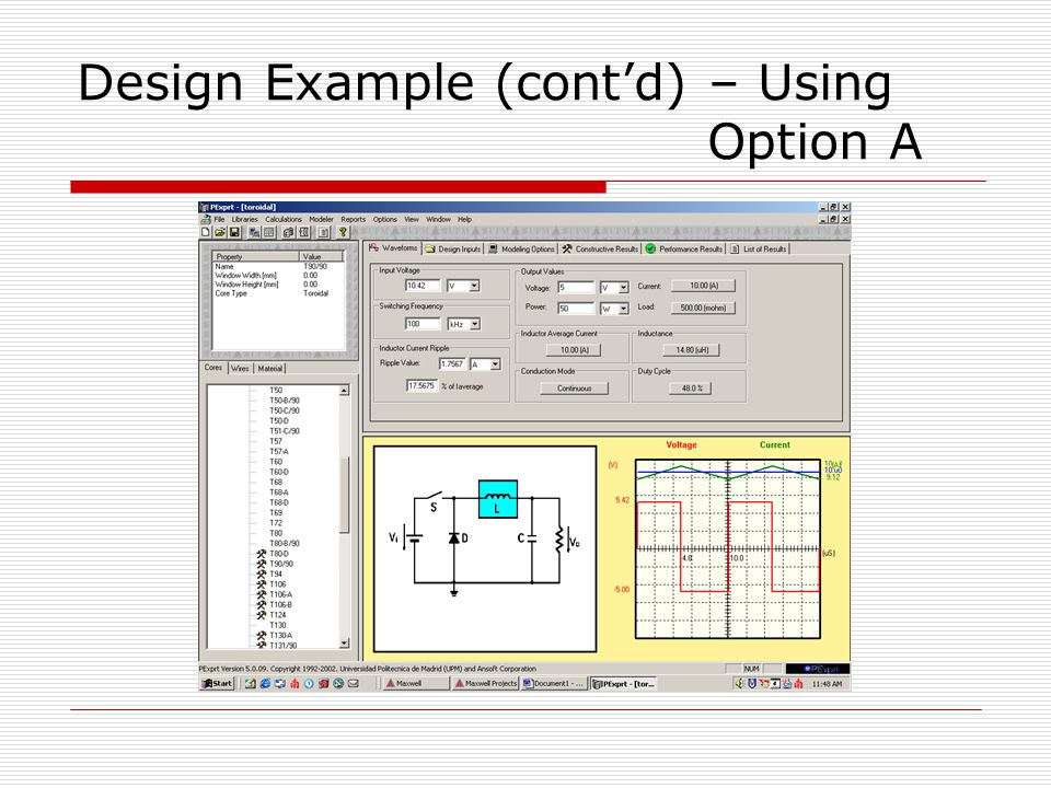 Design Example (cont'd) – Using Option A