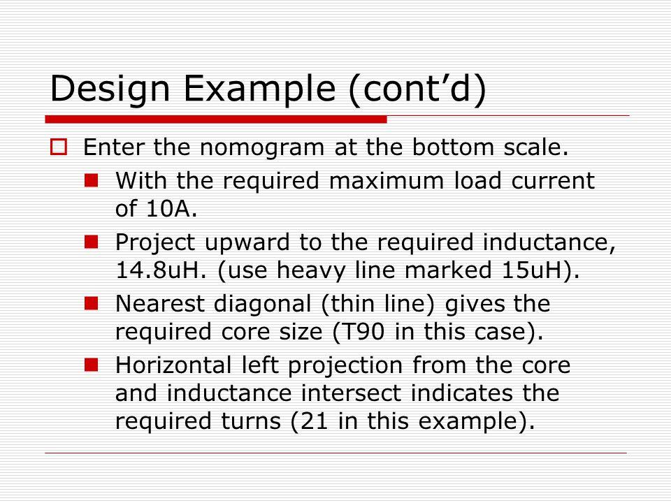 Design Example (cont'd)