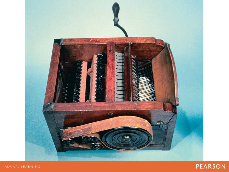 Model of Eli Whitney's cotton gin, invented in 1793