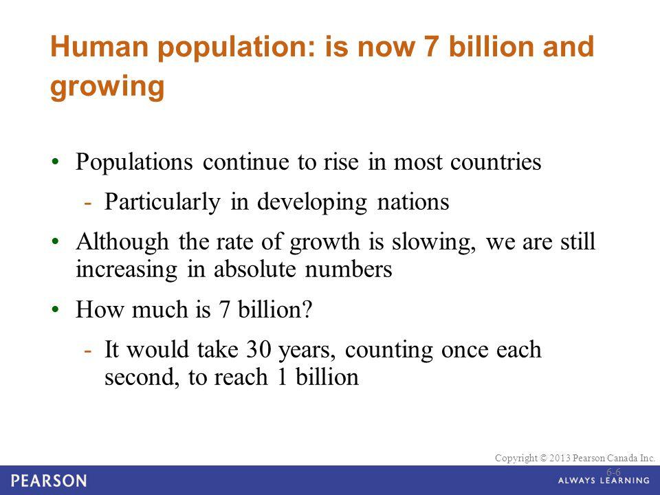 © 2010 Pearson Education Canada Copyright © 2013 Pearson Canada Inc. Demography 6-17