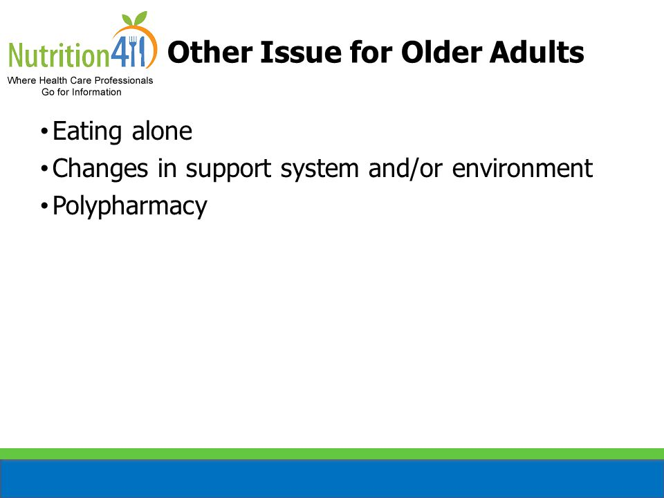 Fluid Nutrients of Concern for Older Adults