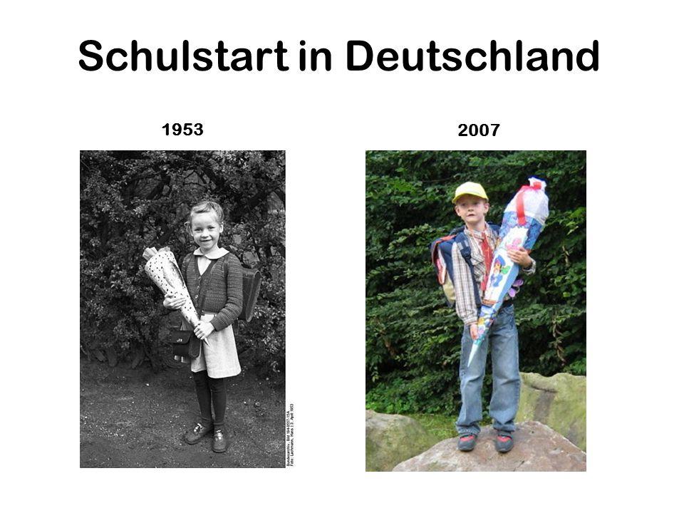 Schulstart in Deutschland 1953 2007