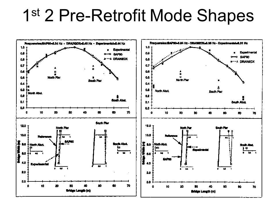 1 st 2 Pre-Retrofit Mode Shapes