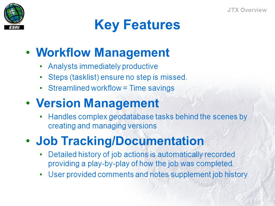 JTX Overview AOI as management tool