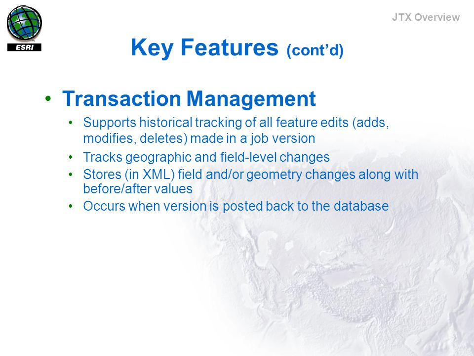 JTX Overview Editing data with JTX Repetitive setup tasks automated