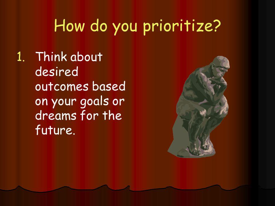 How do you prioritize.1.