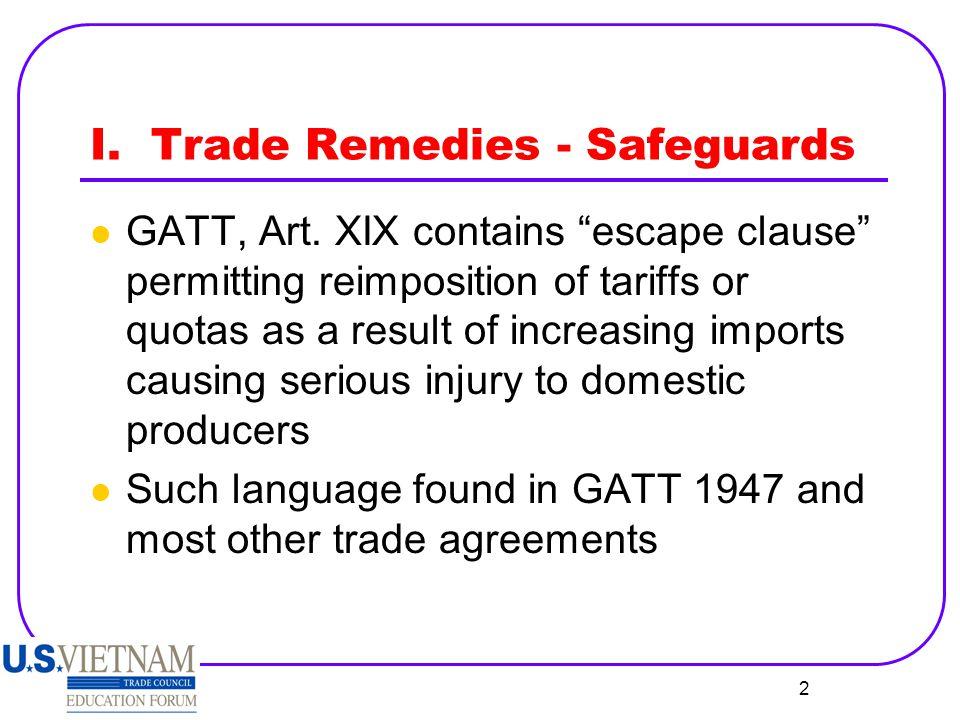 3 I.Safeguards, cont'd.