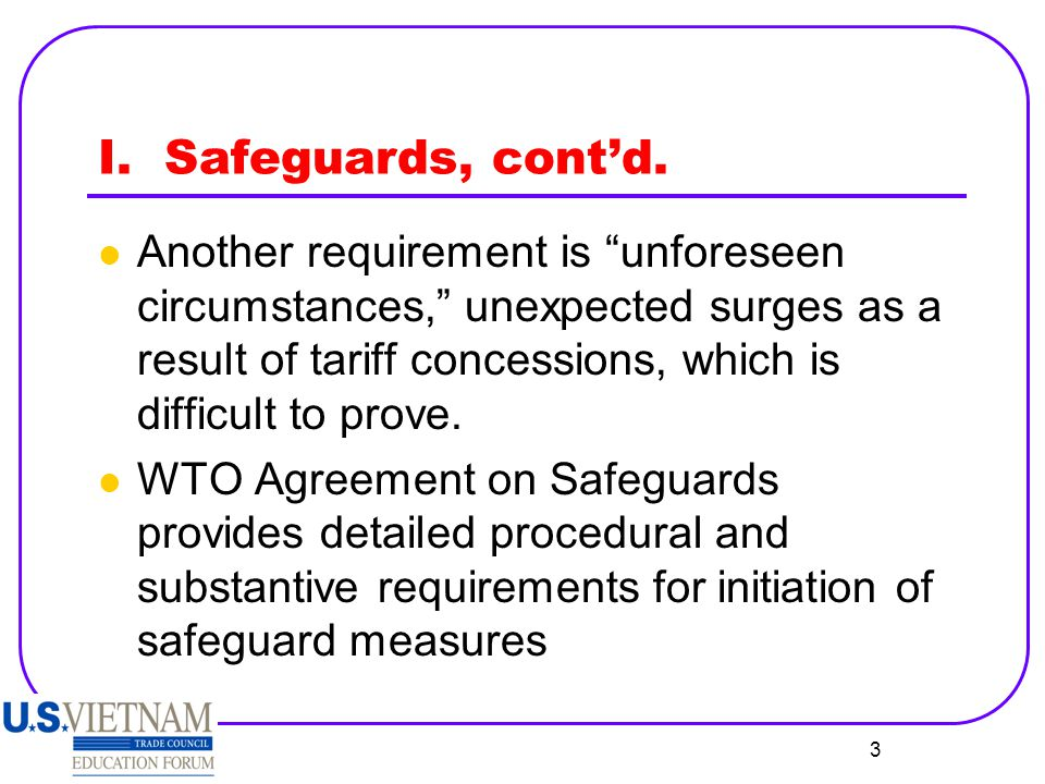 4 I.Safeguards, cont'd.