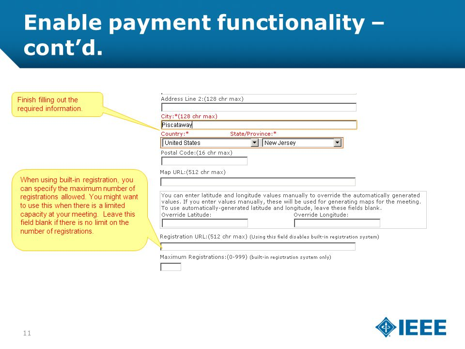 12-CRS-0106 REVISED 8 FEB 2013 Enable payment functionality – cont'd.