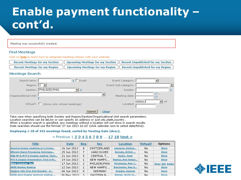 12-CRS-0106 REVISED 8 FEB 2013 Enable payment functionality – cont'd. 13