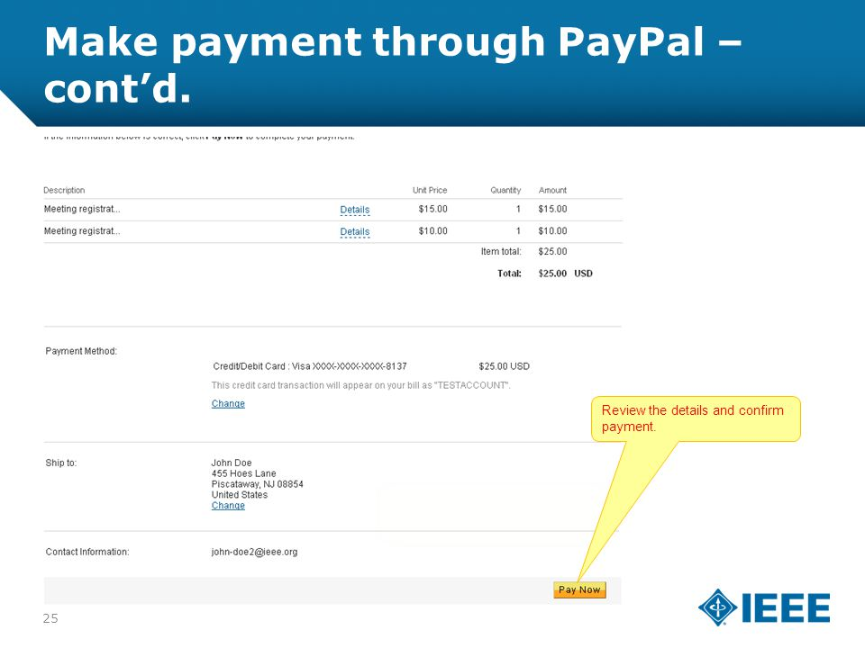 12-CRS-0106 REVISED 8 FEB 2013 Make payment through PayPal – cont'd.