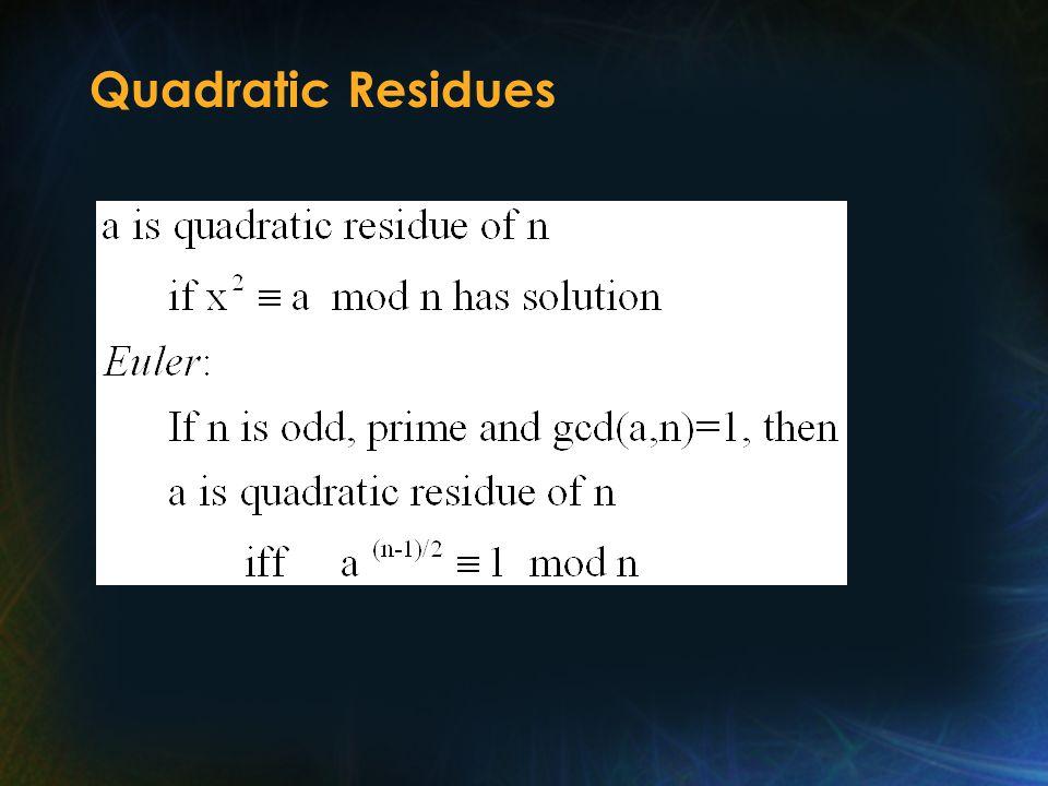 Quadratic Residues