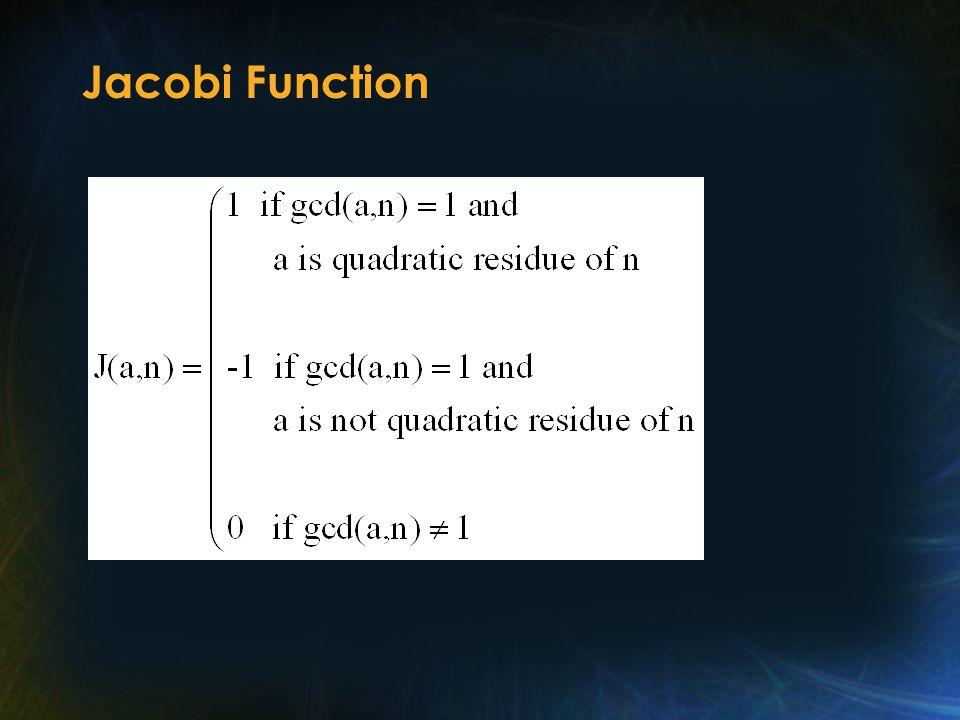 Jacobi Function