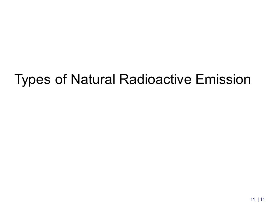 11 | 11 Types of Natural Radioactive Emission
