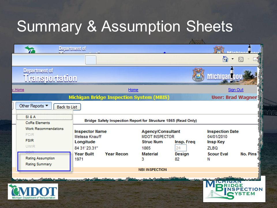 Summary & Assumption Sheets