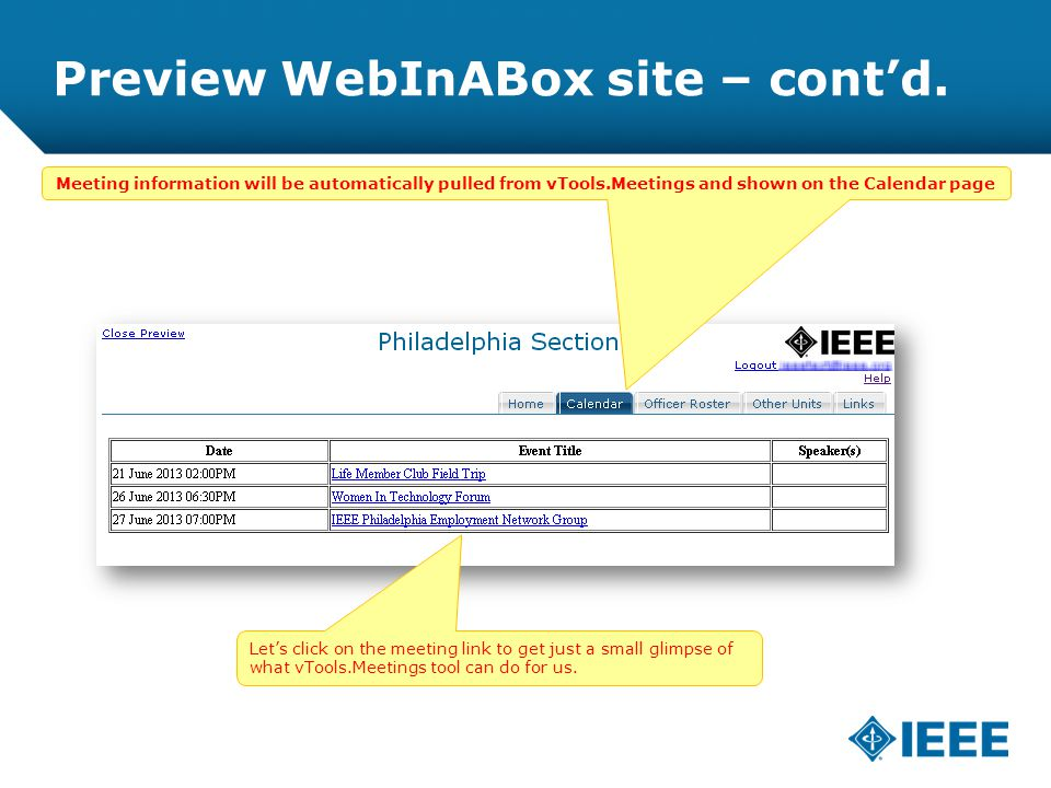 12-CRS-0106 REVISED 8 FEB 2013 Preview WebInABox site – cont'd.