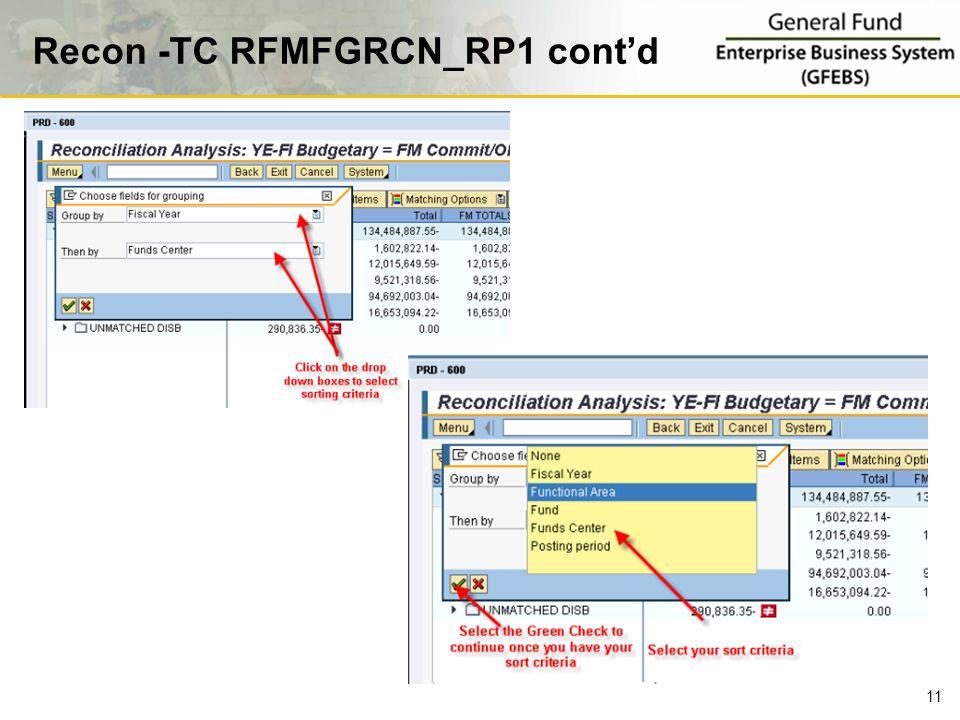 Recon -TC RFMFGRCN_RP1 cont'd 11