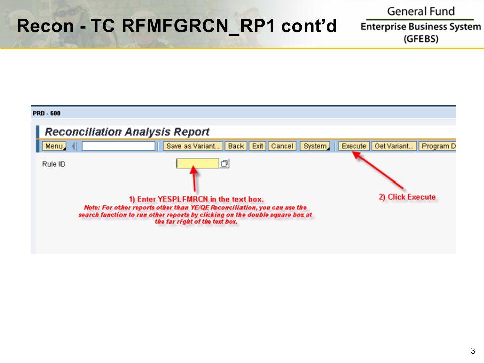 Recon - TC RFMFGRCN_RP1 cont'd 3